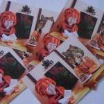 5 art postcards - In the Fo..